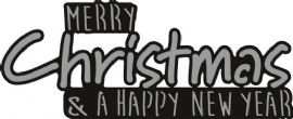 Marianne Design Craftables – Merry Christmas – CR1327